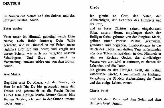 Ave Maria Gebet Deutsch
